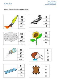 Lecto-escritura sílabas inversas: al el il ol ul