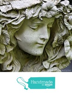Garden Angel / Portrait / Sensitive Stone Sculpture with Captivating Face / Fine Art Photography Print from PhotoClique http://smile.amazon.com/dp/B016TY5HUI/ref=hnd_sw_r_pi_dp_Y1Vlwb128RQPZ #handmadeatamazon