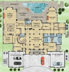 Mediterranean House Plan Filled with Luxury - 31828DN | 1st Floor Master Suite, Butler Walk-in Pantry, CAD Available, Den-Office-Library-Study, Elevator, European, Luxury, MBR Sitting Area, Media-Game-Home Theater, Mediterranean, PDF | Architectural Designs