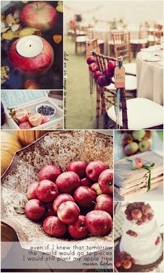16 rustic apple centerpiece country wedding pinterest apple i hate pinning stupid wedding things so ill just have to do apple decorationsautumn junglespirit Image collections