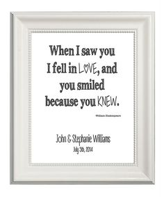 'Love at First Sight' Personalized Poster