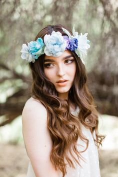 Manon Silk Flower Halo from Mignonne Handmade
