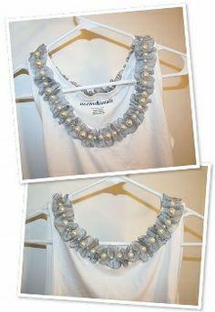yo elijo coser: DIY: collar con gasa y perlas