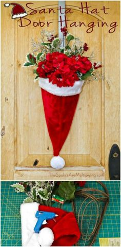It's that time of year when you get ready to dress up your home indoors and out. If you're looking for ways to make your front door more welcoming and merrier this holiday season, I've got a great collection for you. These 20 DIY Christmas door decorations are great, and they're not all wreaths...