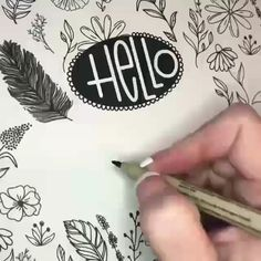 Video preso da , non mio quot; Hand Lettering Tutorial, Hand Lettering Alphabet, Doodle Lettering, Creative Lettering, Lettering Styles, Typography, Bullet Journal Writing, Bullet Journal Ideas Pages, Bullet Journal Inspiration