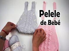 👶Como tejer un pelele de bebé - YouTube Knitting For Kids, Baby Knitting, Crochet Baby, Knit Crochet, Baby Cardigan Knitting Pattern, Knitting Patterns, Baby Girl Patterns, Knitted Baby Clothes, Knitting Videos