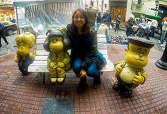 Con mi amiga Mafalda Susanita y Manolito  #SanTelmo #Mafalda by cami.lobos_