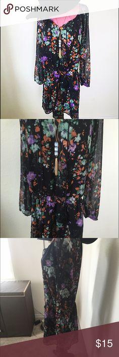 Jessica Simpson Dress Has cute tassels. Lined skirt portion. Has an elastic waist for a feminine fit. Jessica Simpson Dresses