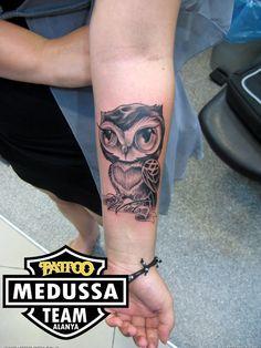 girly Owl tattoo