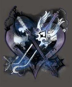 Oathkeeper and oblivion kingdom hearts keyblade Kingdom Hearts Tattoo, Sora Kingdom Hearts, Tatouage Kingdom Hearts, Kingdom Hearts Wallpaper, Arte Yin Yang, Kindom Hearts, Video Game Art, Final Fantasy, Manga Anime