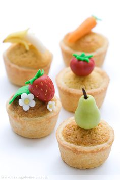 Bakewell Mini Tarts from Baking Obsession Mini Desserts, Just Desserts, Bakewell Tart, Bread And Butter Pudding, Apples And Cheese, Mini Tart, Cupcake Flavors, British Baking, Something Sweet