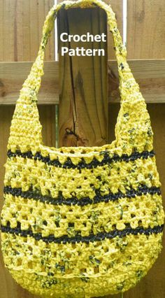 PDF Crochet Pattern Round Reusable CarryAll  I think this could be made with recycled plastic bags!