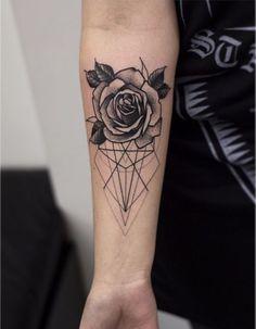 Geometric and Flower tattoo...