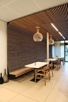 Best Wonderful Design Ceiling Design Ideass For You We've seen our fair ration of creative ceiling design ideas. There are in view of that many ways to accentuate a room by using the ceiling as a focal point; the untapped potential lies in the choices yo Deco Restaurant, Restaurant Interior Design, Cafe Interior, Office Interior Design, Office Interiors, Interior Ceiling Design, Graphisches Design, Cafe Design, House Design