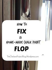 A funny story about how a homemade chalk paint project totally derailed and how the chest was saved.  It's DIY chicken soup for the soul.