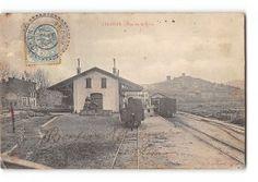 CPA 83 Cogolin La Gare Et Le Train Tramway Ligne De Cogolin Grimaud St Tropez