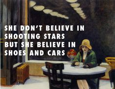 As I recall I know you love to show off Automat (1927), Edward Hopper / Flashing Lights, Kanye West ft. Dwele