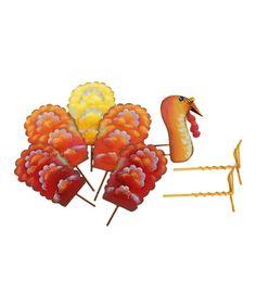 Look what I found on #zulily! Fall Turkey Pumpkin Parts Décor #zulilyfinds