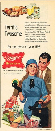 Paper Ads Miller High Life Beer Miller Brewing Company Milwaukee WI USA