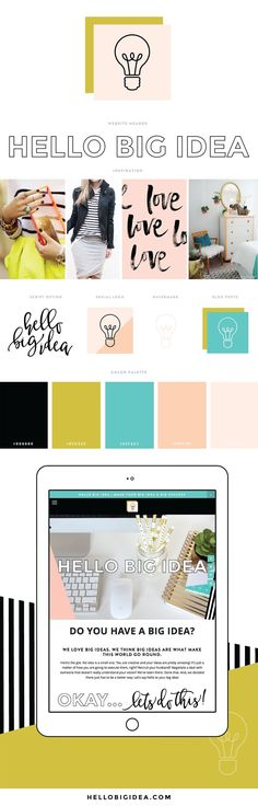 Brand design for Hello Big Idea - Kansas City based design boutique.