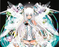 anime girl with silver hair and green eyes - Pesquisa Google