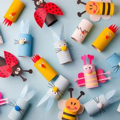 Happy easter kindergarten decoration concept - rabbit, chicken, egg, bee from toilet paper roll tube. Eco-friendly reuse recycle decor, daycare paper craft - Buy this stock photo and explore similar images at Adobe Stock Kids Crafts, Diy And Crafts, Toilet Paper Roll Crafts, Paper Crafts, Diy Easter Decorations, Kids And Parenting, Happy Easter, Diy For Kids, Easy Diy