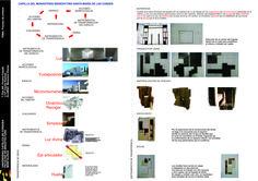 lamina final 1. proceso de sintesis y comunicacion. Espacio/escultura de hormigón. Juegos con la luz, Yustaposicion de volumenes y las texturas. Cátedra de morfología.
