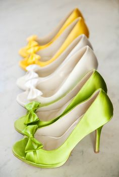 shoes in citrus hues