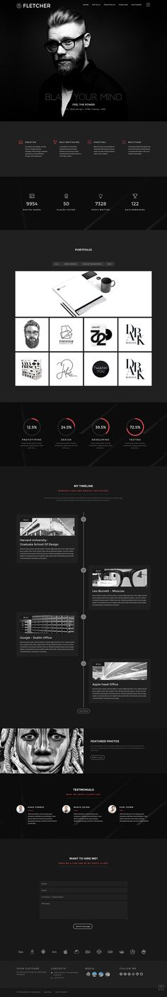 'Fletcher' is a One Page HTML template that aims to provide a portfolio layout…