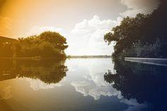 Infinity Pond to Lake Dallas Arboretum Retro by OriginalWorksbyJoy