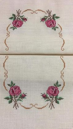 Cross Stitch Rose, Cross Stitch Flowers, Hardanger Embroidery, Cross Stitch Embroidery, Hobbies And Crafts, Diy And Crafts, Hand Embroidery Design Patterns, Mexican Designs, Bargello