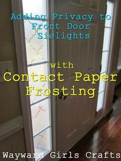Wayward Girlsu0027 Crafts: Adding Privacy To Front Door Sidelights