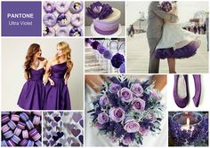 Ultra Violet – Pantone Color of the Year 2018 Promises Hope - wedding moodboard made with SampleBoard