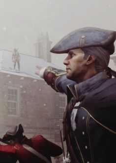 Haytham and Connor Kenway. Assassin's Creed III.