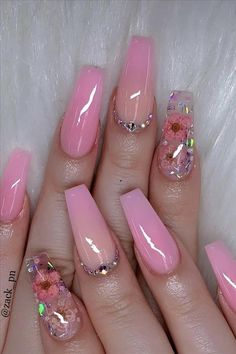 Oct 2019 - 40 Fabulous Nail Designs That Are Totally in Season Right Now - clear nail art designs,almond nail art design, acrylic nail art, nail designs with glitter Neon Nail Designs, Cute Acrylic Nail Designs, Almond Nail Art, Almond Acrylic Nails, Almond Nails, Clear Acrylic Nails, Summer Acrylic Nails, Clear Nails With Glitter, Glitter Nails