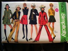 This great pattern from 1969 really evokes the mod London style of fashion that started becoming popular in the mid-60's.