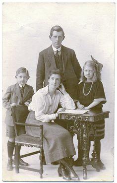 Antique Real Photo Postcard - Family Group circa 1910. £3.00, via Etsy.