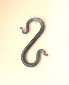 6 long hand forged iron s hook with serpent ends bent on by vintin 825