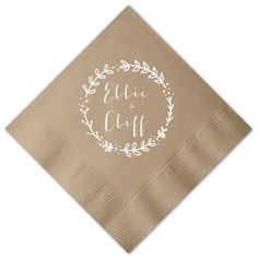 Custom Latte Cocktail Napkins with Matte White on ForYourParty.com