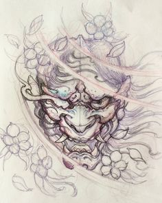 Hannya sketch #hannya #chronicink #sketch #illustration #drawing #irezumi #irezumicollective #tattoo #asiantattoo #asianink