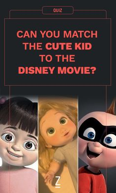 Can You Match the Cute Kid to the Disney Movie?