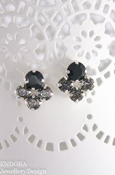 Swarovski Jet and Black Patina | office chic | workwear | officestyle | fashion accessories | fashion jewelry | etsy jewelry | www.endorajewellery.etsy.com