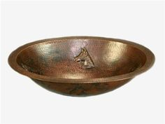 Horse Head Oval Copper Bath Sink | Available at CopperSinksOnline.com