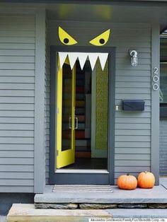 Monster Door via Family Fun Magazine | and other great Halloween Door decorations