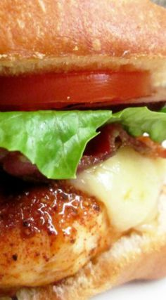 Bacon Jack Chicken Sandwich ~ These sandwiches are great and easy to make on the grill.