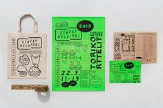 Print with fluorescent detail for Streat Helsinki designed by Kokomo & Moi