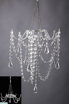 DIY Chandelier – cool website to shop for cool, crafty stuff - All About Decoration Inexpensive Home Decor, Diy Home Decor, Diy Luz, Fun Crafts, Diy And Crafts, Diy Lampe, Diy Chandelier, Decorative Chandelier, Luxury Chandelier