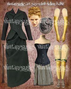 vintagesusie & wings  Victorian Art Paperdoll