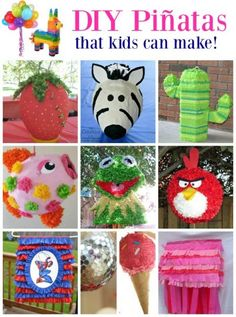 If you've never tried making your own pinata, you'll be surprised how easy it can be! Kids Fun, Diy For Kids, Crafts For Kids, Toddler Crafts, Recycled Crafts Kids, Fun Crafts, Homemade Pinata, Diy Party, Party Ideas
