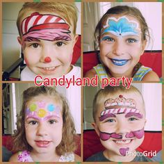 Candyland Face Painting